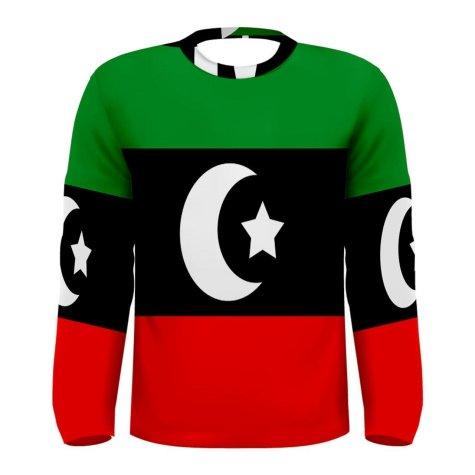 Libya Flag Long Sleeve Sublimated Sports Jersey
