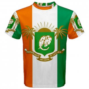 Ivory Coast Coat of Arms Sublimated Sports Jersey