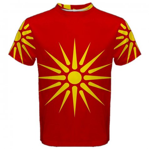 Old Republic of Macedonia Flag Sublimated Sports Jersey