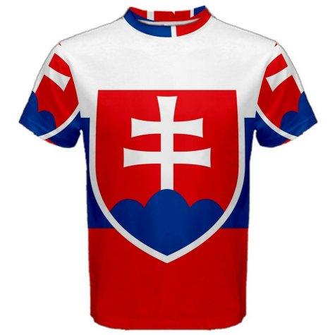 Slovakia Flag Sublimated Sports Jersey