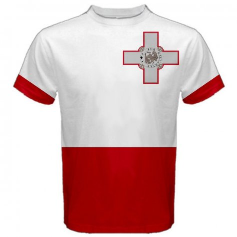 Malta Maltese Flag Sublimated Sports Jersey - Kids