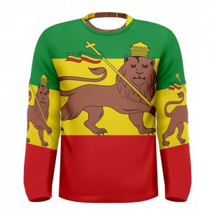 Ethiopia Flag Long Sleeve Sublimated Sports Jersey