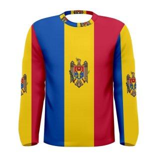 Moldova Flag Long Sleeve Sublimated Sports Jersey