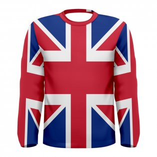 Great Britain Flag Long Sleeve Sublimated Sports Jersey