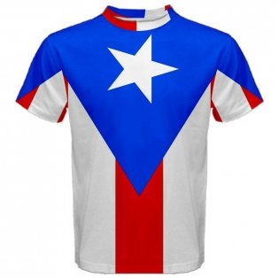 Puerto Rico Flag Sublimated Sports Jersey - Kids