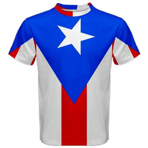 Puerto Rico Flag Sublimated Sports Jersey
