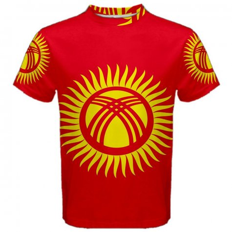 Kyrgyzstan Flag Sublimated Sports Jersey