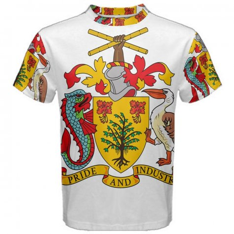 Barbados Coat of Arms Sublimated Sports Jersey - Kids
