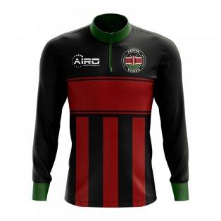 Kenya Concept Football Half Zip Midlayer Top (Black-Red)