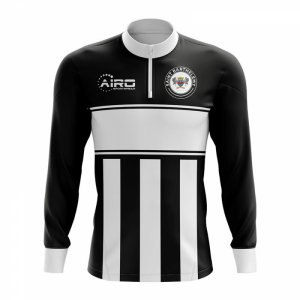 Saint BarthelemyConcept Football Half Zip Midlayer Top (Black-White)