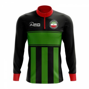 Somaliland Concept Football Half Zip Midlayer Top (Black-Green)