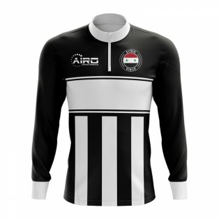 Syria Concept Football Half Zip Midlayer Top (Black-White)