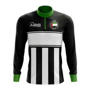 UAE Concept Football Half Zip Midlayer Top (Black-White)