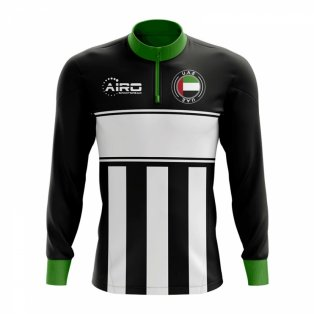 UAE Concept Football Half Zip Midlayer Top (Black-White)