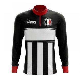 Udmurtia Concept Football Half Zip Midlayer Top (Black-White)