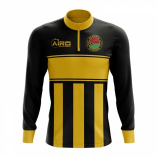 Vanuatu Concept Football Half Zip Midlayer Top (Black-Yellow)