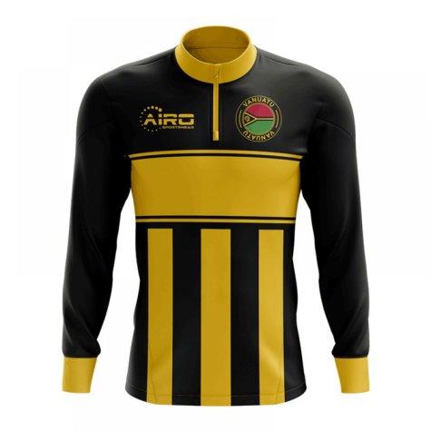 Vanuatu Concept Football Half Zip Midlayer Top (Black-Yellow)
