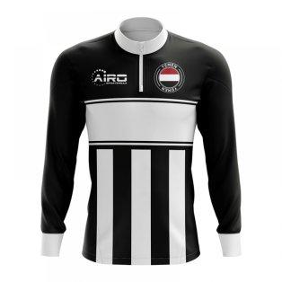 Yemen Concept Football Half Zip Midlayer Top (Black-White)
