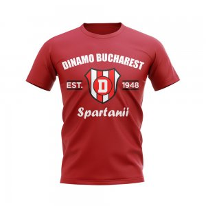 Dinamo Bucharest Established Football T-Shirt (Red)