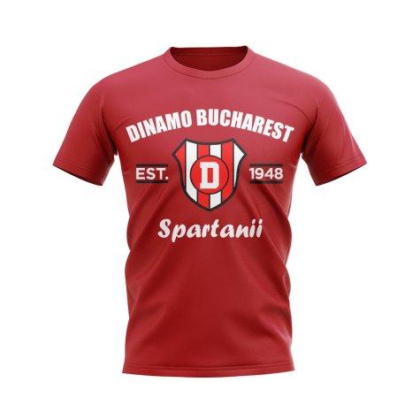 Dinamo Bucharest Established Football T-Shirt (Red)