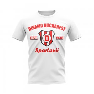 Dinamo Bucharest Established Football T-Shirt (White)