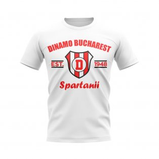 Dinamo Bucharest Established Football T-Shirt (White)
