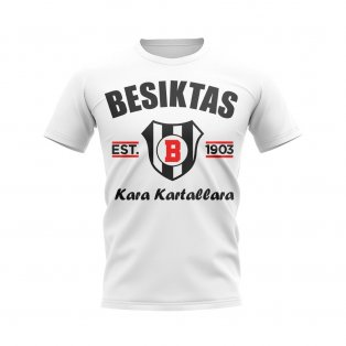 Besiktas Established Football T-Shirt (White)