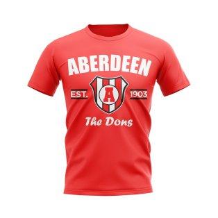 Aberdeen Established Football T-Shirt (Red)
