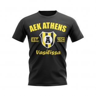 AEK Athens Established Football T-Shirt (Black)