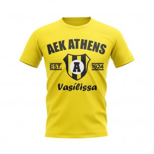 AEK Athens Established Football T-Shirt (Yellow)