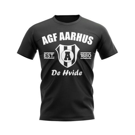 AGF Aarhus Established Football T-Shirt (Black)