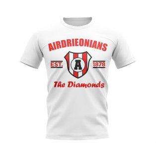 Airdrieonians Established Football T-Shirt (White)