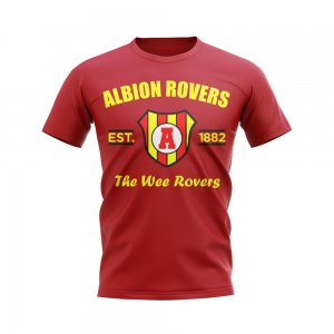 Albion Rovers Established Football T-Shirt (Red)