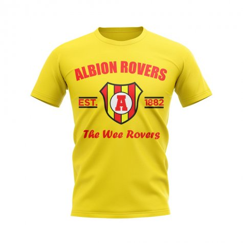 Albion Rovers Established Football T-Shirt (Yellow)