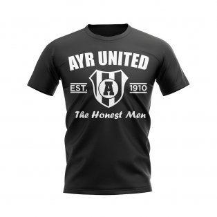Ayr United Established Football T-Shirt (Black)