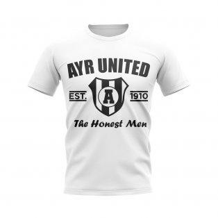 Ayr United Established Football T-Shirt (White)