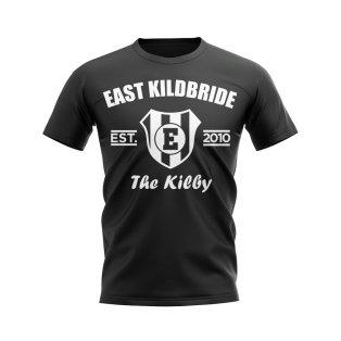 East Stirling Established Football T-Shirt (Black)