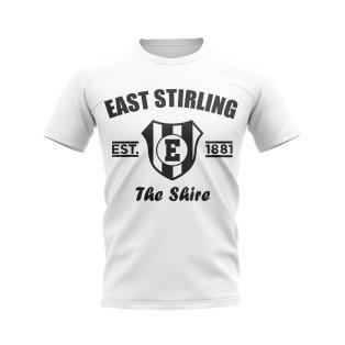 East Stirling Established Football T-Shirt (White)