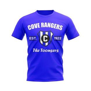 Cove Rangers Established Football T-Shirt (Blue)