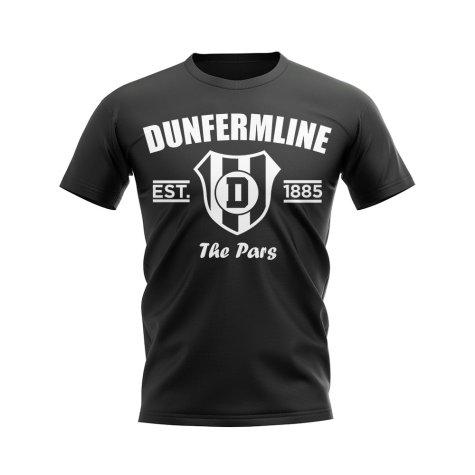Dunfermline Established Football T-Shirt (Black)