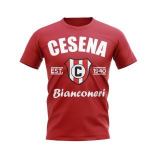 Cesena Established Football T-Shirt (Red)