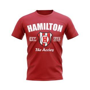 Hamilton Accies Established Football T-Shirt (Red)