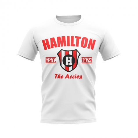 Hamilton Accies Established Football T-Shirt (White)
