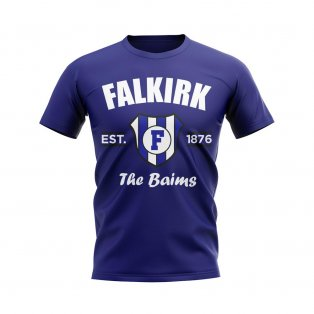 Falkirk Established Football T-Shirt (Navy)