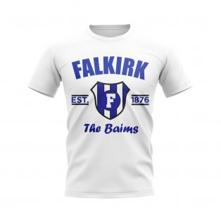 Falkirk Established Football T-Shirt (White)