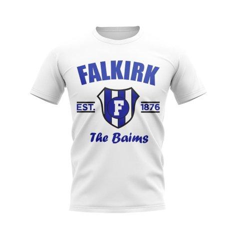 Falkirk Established Football T-Shirt (White)