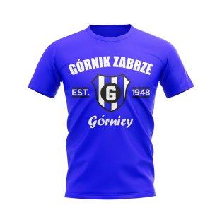 Gornik Zabrze Established Football T-Shirt (Royal)