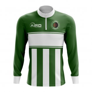 Algeria Concept Football Half Zip Midlayer Top (Green-White)