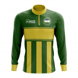 Bashkortostan Concept Football Half Zip Midlayer Top (Green-Yellow)
