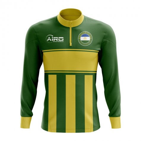 Bashkortostan Concept Football Half Zip Midlayer Top (Green-Yellow)